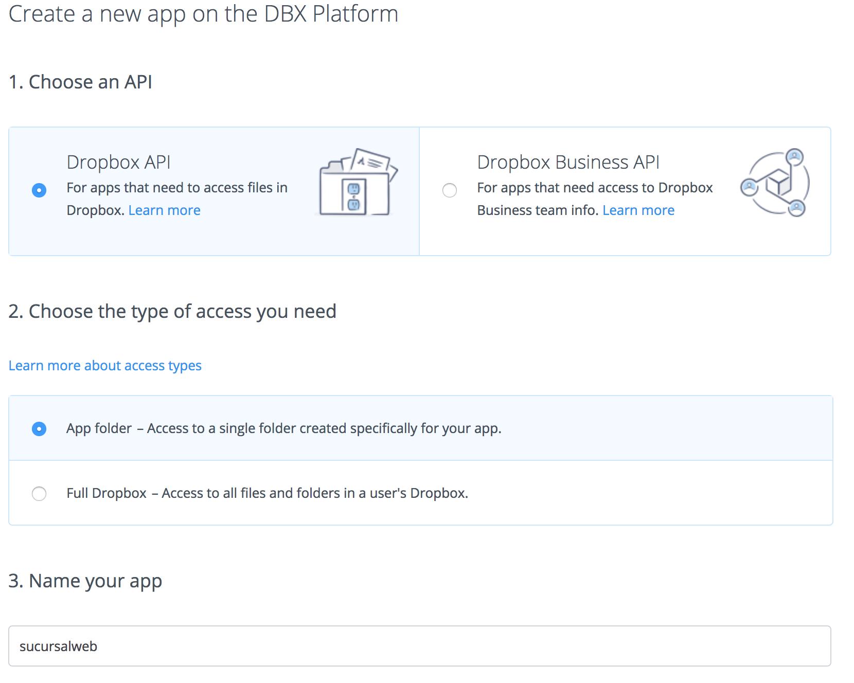 crear-app-dropbox